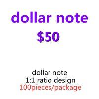 Party Most Paper Bar Movie Billet USA 50 Dollar Prop Nightclub Realistische Faux Kinder Geld Geld Spiel Spielzeug Spielen Erwachsene 16 dpvkd