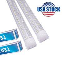 Luz de la tienda LED, 8 pies 72W Blanco, Forma V, Cubierta clara, Salida de altura, Luces de talleres Linkable, Iluminación T8 TUBO, LED Luces de Taller