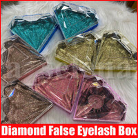 Bling Eyelash Packaging Diamond Shape Glitter False Eyelashe...