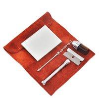 Ein Satz (6pics) Schnupftabak Rohr Pulverflasche Sniffer Box Pfeifentasche Kit Löffel bewegliche hohe Qualität Reisesets einfach in die Tasche stecken