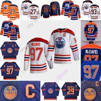 2021 NUEVO Edmonton Oilers Hielo Hockey sobre hielo Jersey 27 Milán Lucic 29 Leon Draisaitl 93 Ryan Nugent-Hopkins 97 Connor McDavid Tamaño S-3XL