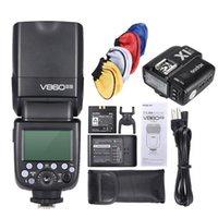 Godox V860II N-i-TTL 1 / 8000S HSS Maestro Esclavo GN60 flash Speedlite con X1T NL-1 / 8000s de disparo de flash para cámaras DSLR