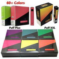 Top Puff Plus XXL Visable Vape Cigarettes électroniques Dispositif 400 800 1600 Puffs Vapeur Multi couleurs 10pcs / Pack