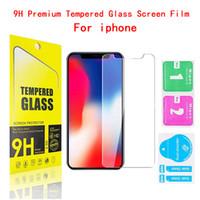 9H dello schermo in vetro temperato Protector per iPhone 12 11 Pro Max XS Max XR 8 7 più Esplosione HD Pellicola protettiva con imballaggio