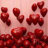 50pcs10-pulgada rubí rojo en forma de corazón globo globo de doble capa de la casa de la boda decoración de la fiesta de la fiesta del bebé regalo