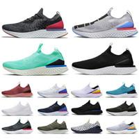 Épique de haute qualité Epic Instank Go Flyweight Hommes Femmes Running Shoes Chaussures Triple Noir Blanc Blanc Sports sportifs sportifs respirants