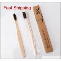 Bamboo Toothbrush Soft Bristle Toothbrush Portable Travel Handle Toothbrushes Oral Hygiene Whitening Bathro qylRkQ new_dhbest