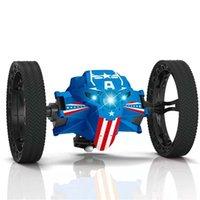 2.4g Fernbedienung Spielzeug Bounce springen mit flexiblen Rädern Rotation LED Nachtlicht RC Roboter Auto Geschenk vs sj88 201223