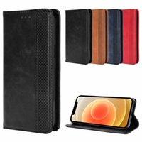 Virar PU carteira de couro Magnetic Adsorção caso do iPhone para 12 Mini 11 Pro XR XS Max X 7 8 6 6S Mais de Telefone Bags