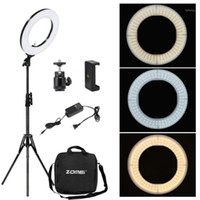 Zomei dimmable fotografie fotografische studio ring light 3200-5600k led beleuchtung telefon adapter make-up for live sendes video1