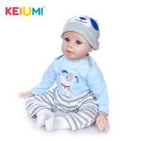 Keiumi vendita calda bambole rinasce 55 cm corpo corpo all'ingrosso realistico baby boys neonato fashion bambola regalo di natale regalo di natale nuovo anno lj201031