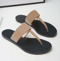 최고 품질 남성 비치 슬리퍼 여름 패션 여성 플립 플롭 가죽 레이디 슬리퍼 금속 여성 신발 플랫 숙녀 슬리퍼 큰 크기 35-45