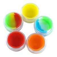 7ml 실리콘 컨테이너 오일 콘센터 왁스 jar dab 항아리 스틱 플라스틱 병 저장에 사용