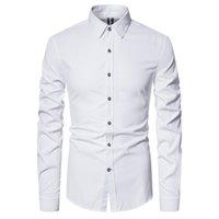 공장 정리 큰 판매 최고 품질의 면화 긴 소매 셔츠 턴 다운 칼라 망 드레스 셔츠 캐주얼 사회 kg-476