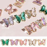 Crystal Butterfly Nail Art Decorazione 3D Farfalle olografiche Design Metallo Gioielli Decorazione manicure Accessori F721