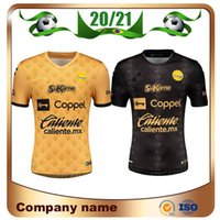 Maillots de futebol 20/21 Sinaloa camisas de futebol 2021 Liga México Home Gold Away Black Football Shirts Uniformes de manga curta