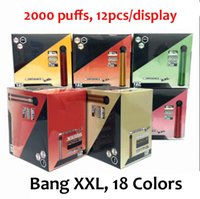 Vape 6ml 800mAh Vape 2000 sbuffi elettronico XXL 24 colori monouso Device Bang Sigaretta monouso penna disponibile AUASC
