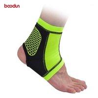 Поддержка лодыжки Boodun без скольжения Силиконовая лодыжка Brace защита дышащего спортзала спорт футбол антисекварный протектор1