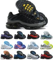 Yeni Klasik Erkek TN Artı Kadın Koşu Ayakkabıları Eğitmenler Üçlü Siyah Beyaz Hiper Mavi Oreo Duman Gri Camo Dünya Çapında Açık Spor Sneakers