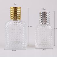 WC separado água de vidro Bottling vazio Perfume Loção prateado Cor spray garrafas abacaxi Dot em forma de atomização 30 / 50ml 2 05fj I2