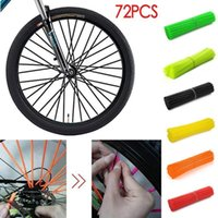 Bicicleta luzes 72pcs bicicleta sujeira decoração motocross roda roak wraps bordas skins protetor covers decor1