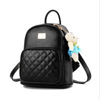 Lady Backpack Lady PU Cuero Moda Mini clásicos Mochilas Mochilas Niños Muchacha Bolsa de la escuela bolsas de bolsas