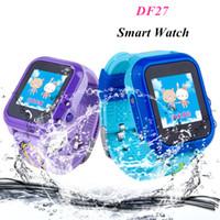 DF27 IP67 impermeabile telefono intelligente orologio bambini bambino GPS Swim SOS Chiama Luogo dispositivo dell'inseguitore Safe Kids Anti-Perso Monitor
