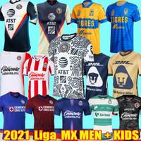 20 21 Liga MX Club America terceiros Camisas de futebol 2021 Cruz Azul Chivas Tijuana UNAM Tigres Santos Laguna Futebol Camisas kit infantil Fardas