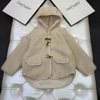 Nuevo llega el invierno polar bebés cordero Escudo muchacha de los cabritos al aire libre Ropa de frío de niños con capucha Prendas de abrigo