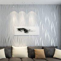 Современные 3D Геометрический обоев для гостиной стены спальни Papers Home Decor Рельефные полосы Mural WallPaper TV Фоновая