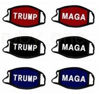 3D-Druck Trump 2020 Mask windundurchlässiges Cotton Mouth Masken Erwachsene Kinder amerikanische Wahl US-Masken-Schwarz-Masken 6styles RRA3677
