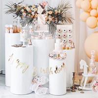 Round Cylinder Pedestal Display Art Decor Plinths Pillars for DIY Wedding party background Decorations Holiday