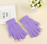 Touchscreen Thermal Knitted Mittens Warm Glove Winter Outdoor Magic Full Screen Finger Gloves Touch For Gloves Magic Women's Sport bbyvq