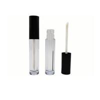 Высококачественные мини-упаковочные бутылки 4 мл 6 мл белые губные пробирки для губ круглые пластиковые бутылки черная крышка прозрачный