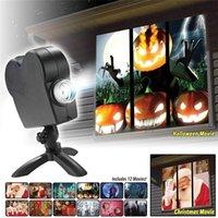 Cadılar Bayramı Noel Pencere için Pencere Projektör Wonderland Ekran Lazer DJ Sahne Lambası Kapalı Açık Noel Spot GGGE2223