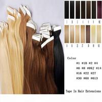 Fita na pele 4cm Largura 10 '' - 26 '' 2.5g PC 40 pcs 100g de cabelo indiano de pele de pele de pele de pele indiana em suas extensões de cabelo humano