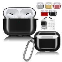 Fone de ouvido capa para Airpods Pro Luxo chapeamento PC à prova de choque Capa protetora Para Airpods 3 2 1 Shell Para Apple Wireless Bluetooth Headphone