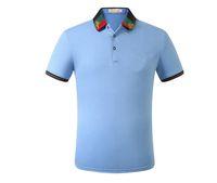 Neue Mode Klassische Herren Stickerei Hemd Baumwolle Herren Designer T-Shirt Weiß Schwarz Grau Blau Grün Hemd Männlich M-3XL