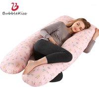 Bubble Kiss U-образная подушка для беременности мультфильм образец поддержки сна для беременной хлопчатобумажной подушки для беременных подушек для кровати 1