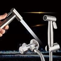 WC Handheld Bidet Sprayer Set Kit Edelstahl Hand Bidet Wasserhahn Für Badezimmer Hand Sprayer Duschkopf Selbstreinigung Nein