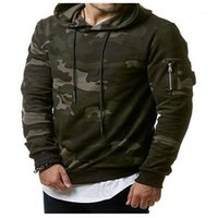 Mens Designer Slim Fleece Hoodies Casual Loose Pullover Long Sleeve Men Clothing Camouflage Hooded Sweatshirts