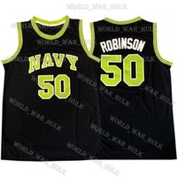 NCAA 50 David Robinson Jersey LeBron 23 James Dwyane 3 Wade College Camerlo 15 Anthony Jayson 0 Tatum Ja 12 Morant Basketball Jerseys