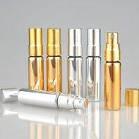 100pieces / Çok 5ML Renkli Parfüm Seyahat Parfüm Taşınabilir Boş Kozmetik Konteynerleri ile Alüminyum İçin Şişe Sprey