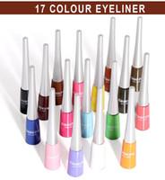 17 colori Eyeliner Pen, opaco, asciutto rapido colorato eye liner, di durata non colorazione, l'ombra opaca dell'occhio.