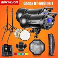 Godox QT600II 600WS GN76 1/8000s HSS استوديو فلاش ستروب الإضاءة كيت X1T الارسال + شبكة softbox + barn الباب + ضوء حامل 1
