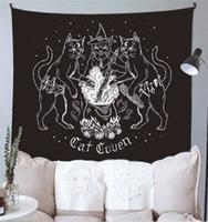 Kedi Büyücüsü Goblen Duvar Asılı Gümrüler Gizemli Kehanet Baphomet Gizli Ev Duvar Siyah Serin Dekor Kedi Cennet