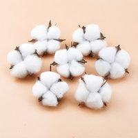 2/5/10 stücke weiße baumwolle florist liefert hochzeit auto dekorative blume kränzen weihnachten home decor billig billig künstliche blumen cl200919