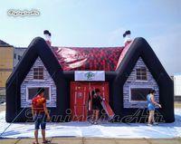 Air Tenda inflável gigante Irish Pub Retro 8m fácil de construir Partido Blown Public House Para Clube Carnival Decoration