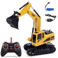 2.4G rc escavatore mini telecomando camion crawler 1:24 elettrico ricaricabile simulato auto ingegneria regali giocattolo per bambini 201209