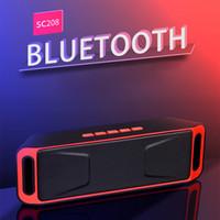 SC208 Bluetooth Taşınabilir Stereo Hoparlör Desteği FM AUX USB TF Kart Handsfree Banyo Havuzu Için Araba Plaj Açık Duş Hoparlörler